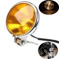 """5 """"frente luzes luzes da motocicleta retro personalizado farol âmbar lâmpada para yamaha honda davidsion harley touring iluminação do piloto do café"""