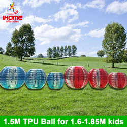 20 шт./лот 1,5 м ТПУ надувные Тела Зорб мяч, бампер мяч, Loopy мяч, пузырь футбол, пузырь футбол, пузырь мяч костюм