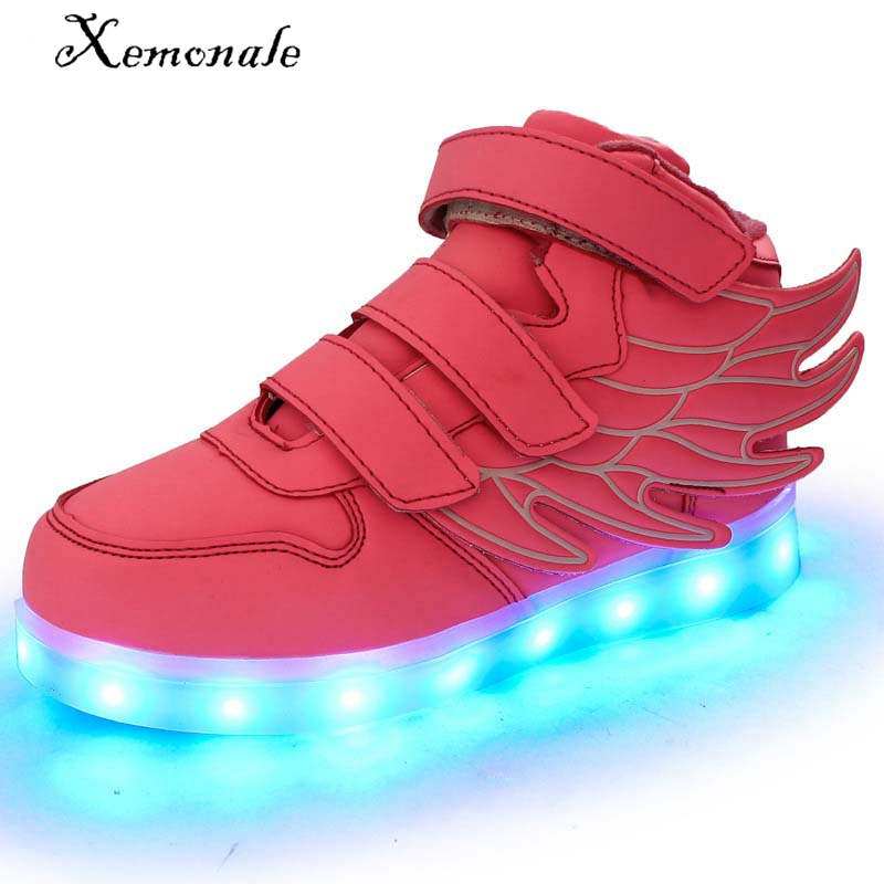 2016 Spring led shoes girls PU leather sneakers light shoes kids led light shoes running sport sneakers glow shoes led white USB babaya new children sport shoes casual pu leather white running shoes for 4 12 years old boys and girls kids sneakers size 26 37