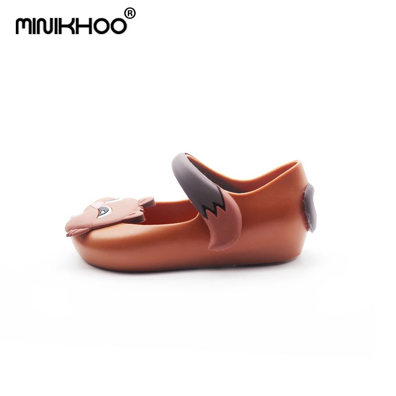 Mini Melissa 2018 Cute Squirrel Girls Jelly Sandals Children Shoes Baby Sandals Beach Shoes 3color Non-slip Sandals High Quality