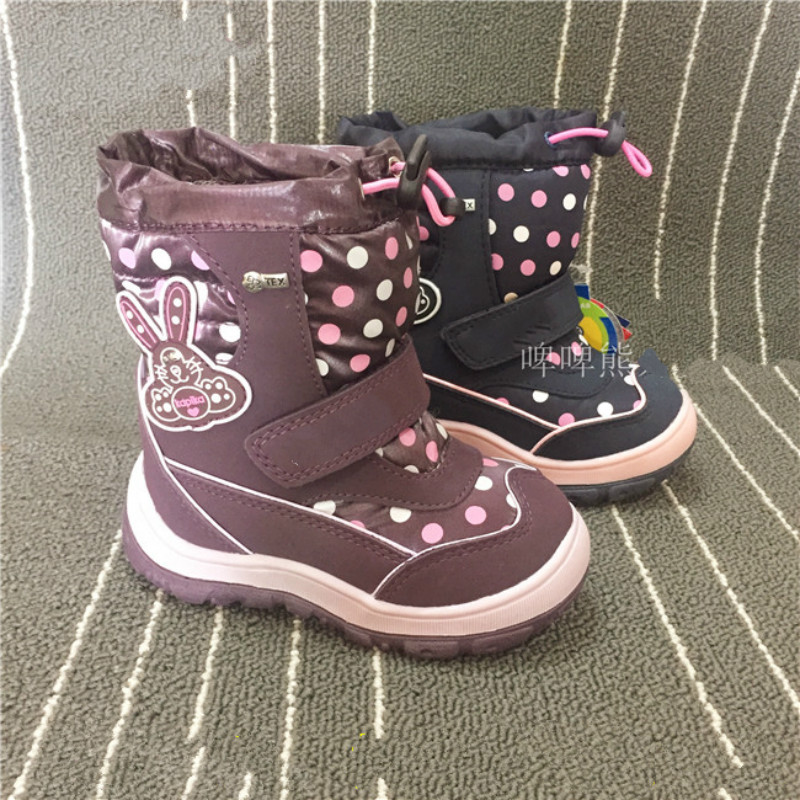 Kids Boots For Girls 2017 Winter Children Shoes   Print Waterproof Snow Boots High Quality Toddler Boots kelme 2016 new children sport running shoes football boots synthetic leather broken nail kids skid wearable shoes breathable 49