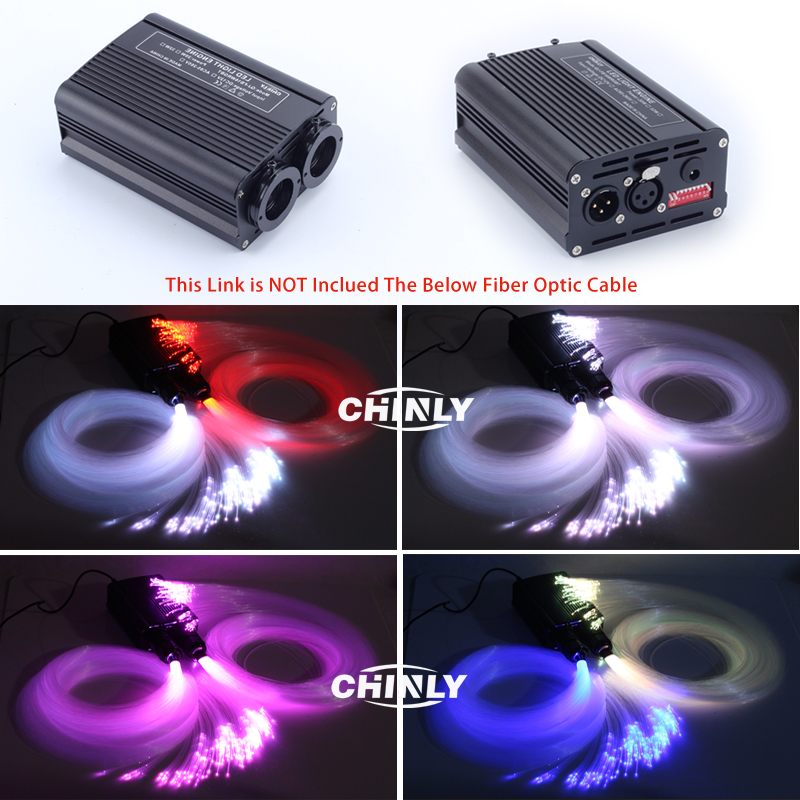 Image 3 - DMX512 LED Fiber Optic Engine 20W RGB Double Source Light Head For Decorative Lightings-in Optic Fiber Lights from Lights & Lighting