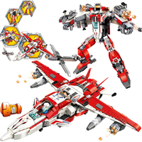 ENLIGHTEN Star Wars Transformation Phantom Knight Building Blocks Sets Kits Bricks Movie Kids Marvel Compatible