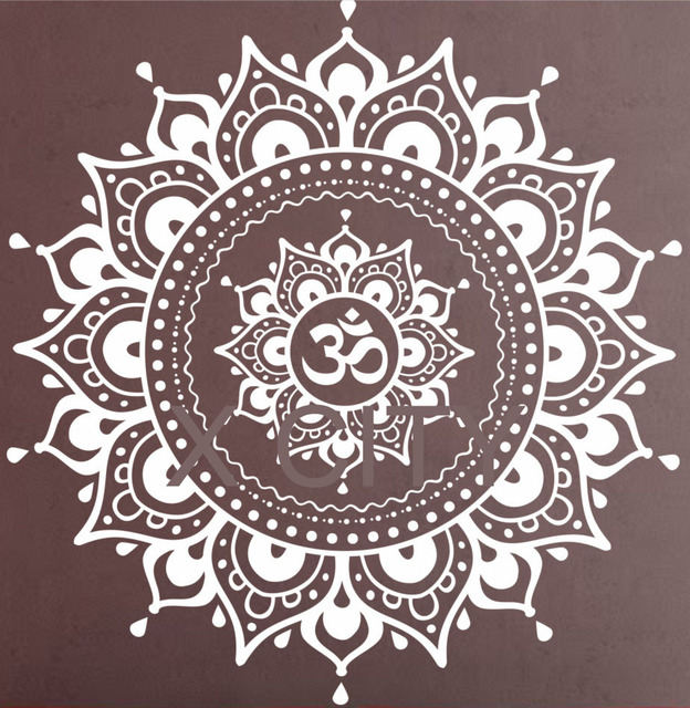 mandala muster gro e wandtattoo vinyl kunst aufkleber yoga lotus meditation wohnkultur wandbild. Black Bedroom Furniture Sets. Home Design Ideas