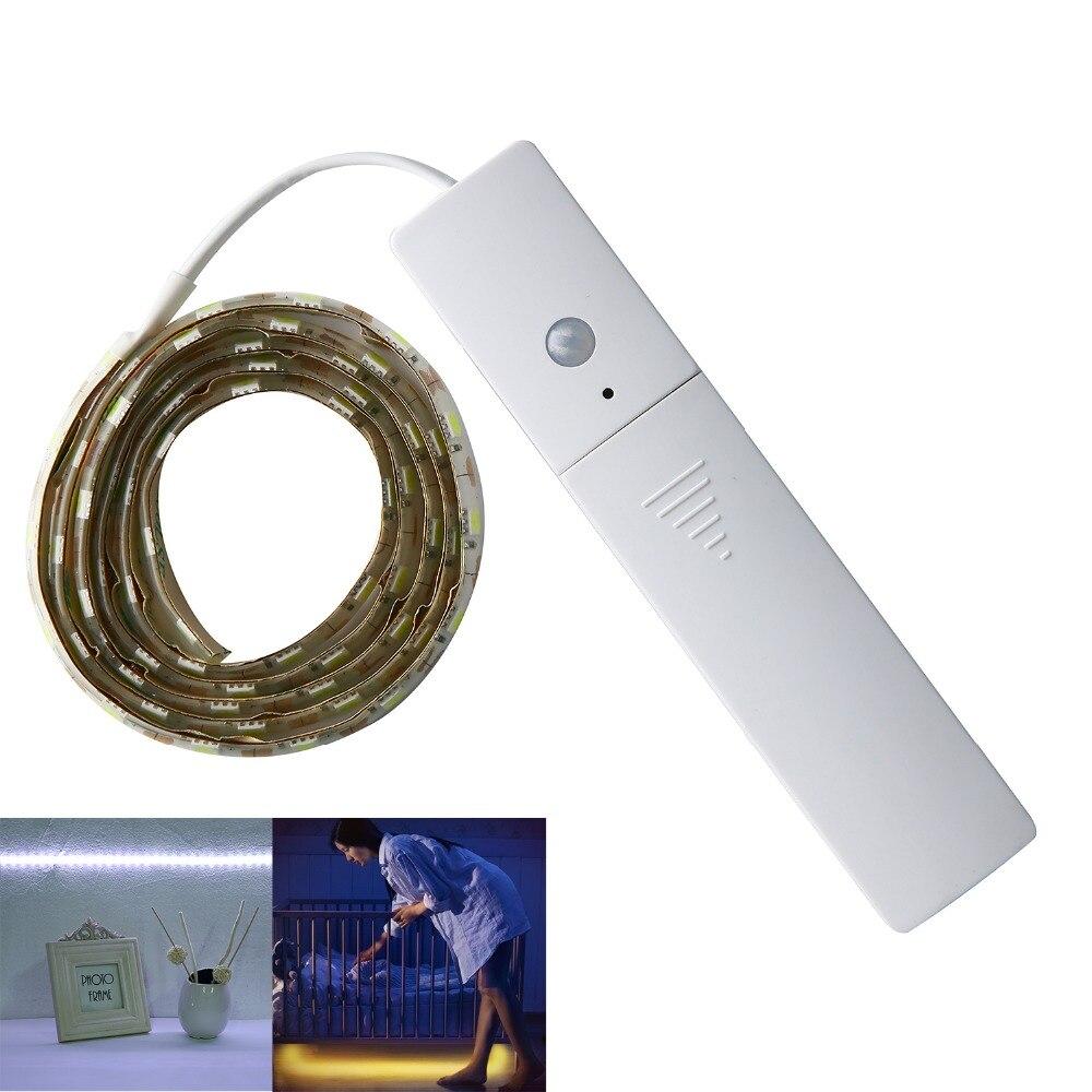 ir motion sensor led lights 1 meters 60leds smd5050 led strip auto on off night light 4 aaa. Black Bedroom Furniture Sets. Home Design Ideas