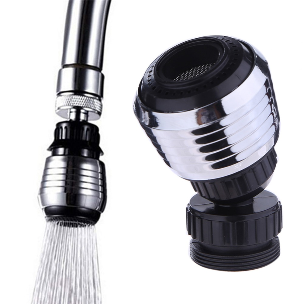 360 Rotary Kitchen Faucet Shower Head Economizer Filter Water Stream Faucet Pull Out Bathroom Kitchen Faucet Filter