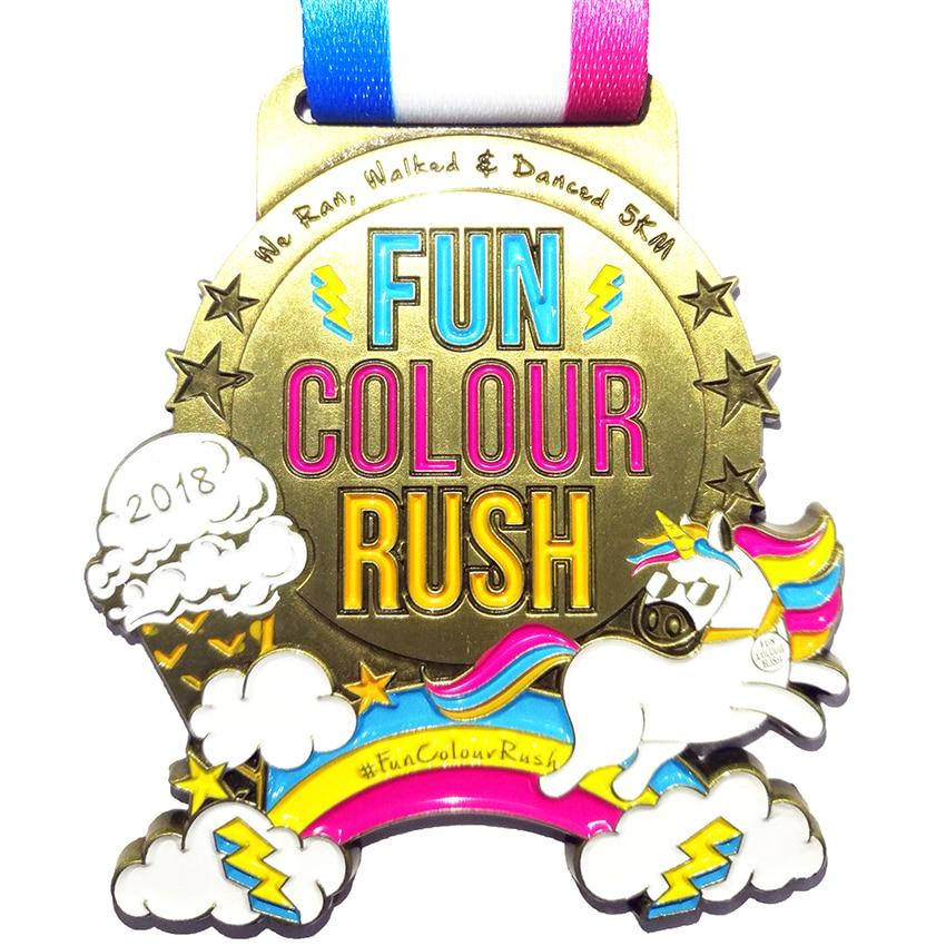 Custom Medalha Medalhas Executados Logotipo Personalizado Com Fita de Natal