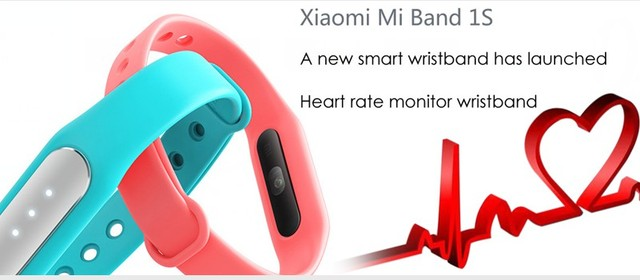 2016 original  Mi Band 1S 1S  Smart Bracelet XM MiBand 1S Heart Rate Monitor Bluetooth IP67 Waterproof Wristband