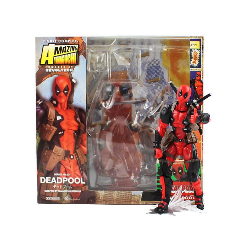 Super Heróis Deadpool Figma EX-042 Incrível Yamaguchi Brinquedo Figura de Ação do homem Aranha Spider-man PVC Bonecas do Regresso A Casa