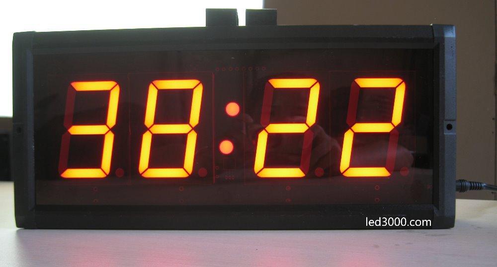 Tamaño grande de 3 pulgadas de alto carácter MM: reloj de cuenta - Decoración del hogar