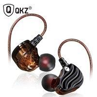 Наушники Подлинная QKZ KD4 наушники двойной драйвер с микрофоном gaming headset mp3 DJ audifonos fone де ouvido auriculares