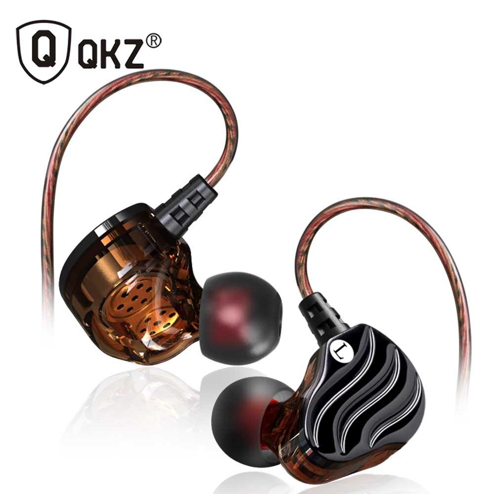 Kopfhörer Echtem QKZ KD4 Kopfhörer Dual Fahrer Mit Mic gaming headset mp3 DJ Headset audifonos fone de ouvido auriculares