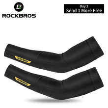ROCKBROS Outdoor Volleyball Sleeves Sport Fitness Arm Warmers Cycling Sunscreen Anti-UV Arm Sleeves Ice Silk Fabric Basketball цены онлайн