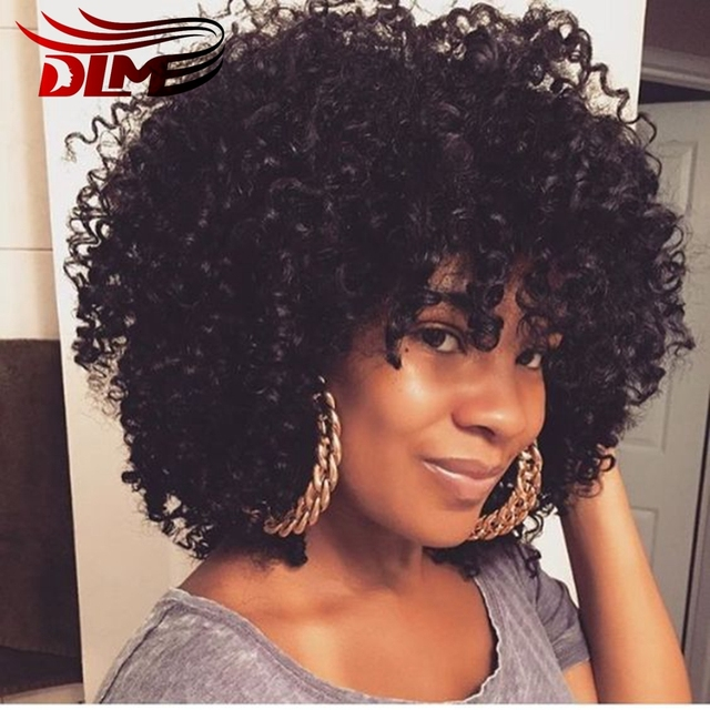 Short Mongolian Curly Human Hair Wigs For Black Women Latest Fashion