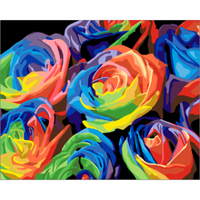 Romantic Roses Wall art Pictures DIY Oil Painting By Numbers Paint On Canvas Modern For Living Room painting