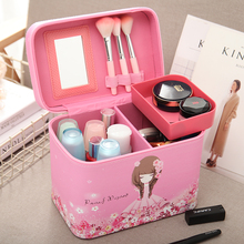 Professional Cosmetic Bag Portable Large Capacity Manicure Beauty Storage Box Cosmetic Case Waterproof Lovely The New Travel цена и фото
