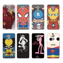 Superman Spiderman dos desenhos animados Pink Leopard Soft Case Telefone TPU Para huawei P10lite P10 plus P8 P9 honor 6A 3C 4c 7 8 9 5a 5c C065(China)