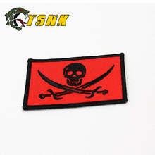 "Tsnk Zwarte Kleur badge militaire patch militaire badge ""NAVY SEALS/Jolly Rogers"" Armlet/Badge/ schouder Patch(China)"