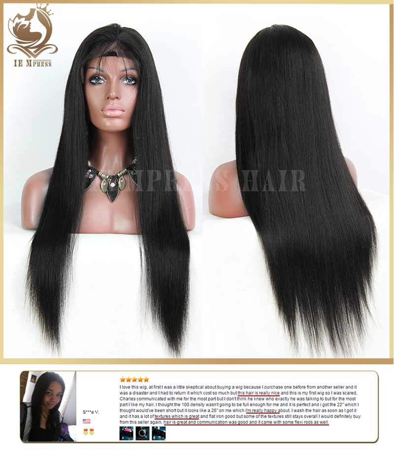 Indian Virgin Hair Lace Front Wig Full lace wig With Baby Hair ...