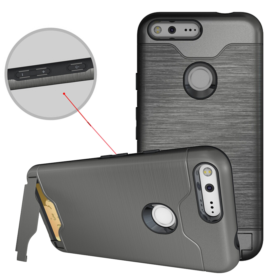 For Google Pixel XL Case Kickstand Luxury Fall Proof Hybrid Credit Card Pocket Hidden Pouch Phone Fundas For Pixel 5 Inch Coque