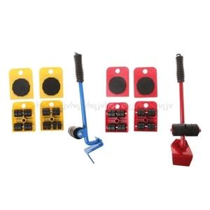Image 2 - 5 Stücke/8 stücke Möbel Transport Roller Set Entfernung Hebe Umzug Werkzeug Schwere Bewegen Haus Möbel zubehör D12 Dropship