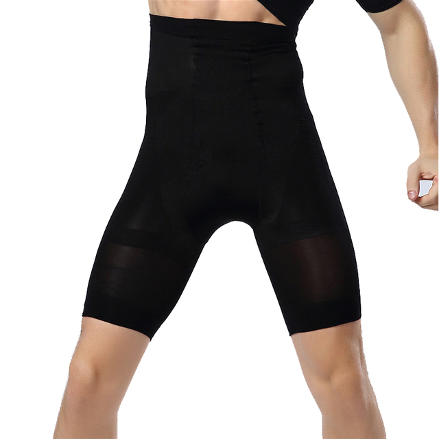 1b796f76b9 Men Butt Lifter Pants Compression Belly Trainer Control Bodybuilding  Underwear Slimming Tummy Trimmer High Waist Shapers