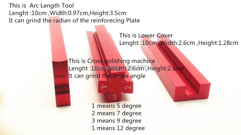 Self made Parts Tamiya MINI 4WD Tool for Grinding the radian of the reinforcing Plate and