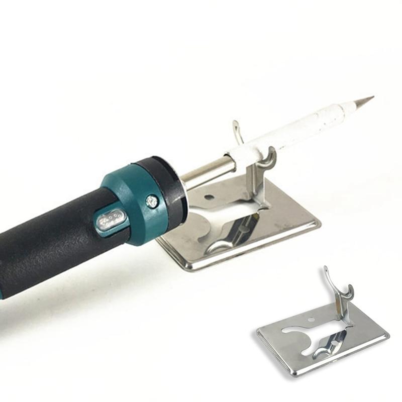 Y Type Soldering Iron Bracket Simple Electric Iron Bracket Countertop Holder Solder Stainless Steel Shelf Silver