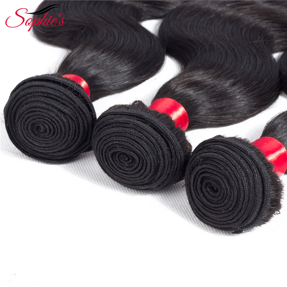 Sophies Brazilian Body Wave Human Hair Bundles Hair Weaves Sew In Hair Extensions Black Non-Remy Hair No Tangle Free Shipping