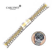 CARLYWET 19 20mm Wholesale Hollow Curved End Screw Links Stainless Steel Replacement Jubilee Watchband Bracelet For Datejust