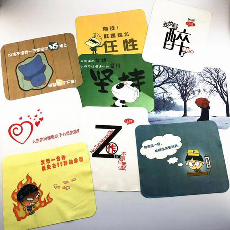 10pcs/lot Cute Cartoon Cleaner Clean Glasses Lens Cloth Wipes Glasses Microfiber Eyeglass Cleaning Cloth Mac Camera Computer-25