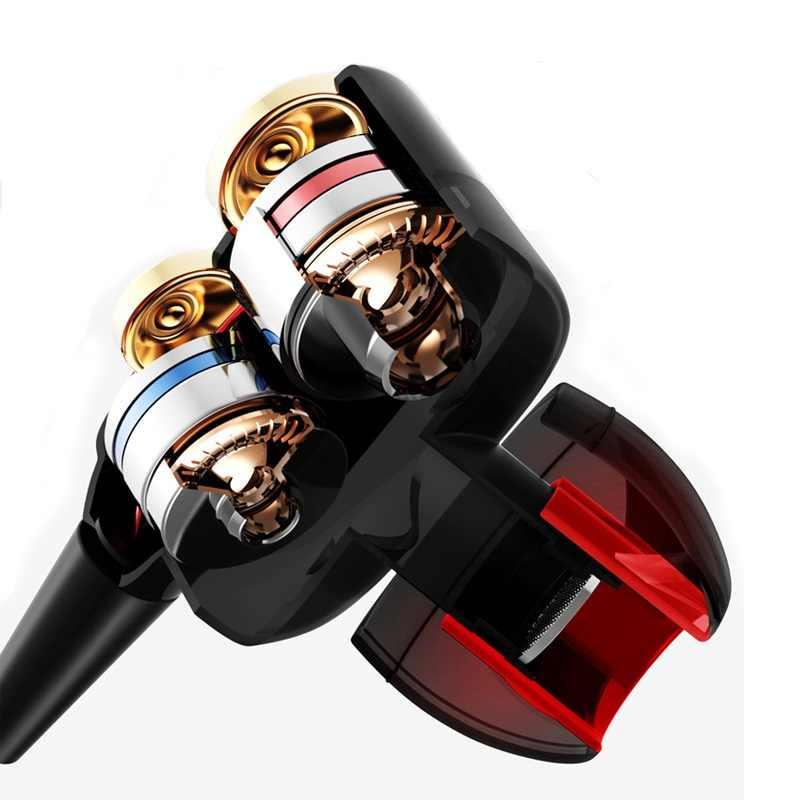כפול יחידת כונן באוזן אוזניות עבור Huawei Y7 Y7 ראש 2018 Y6 פרו 2017 Y5 סופר בס סטריאו אוזניות אפרכסת fone דה Ouvido