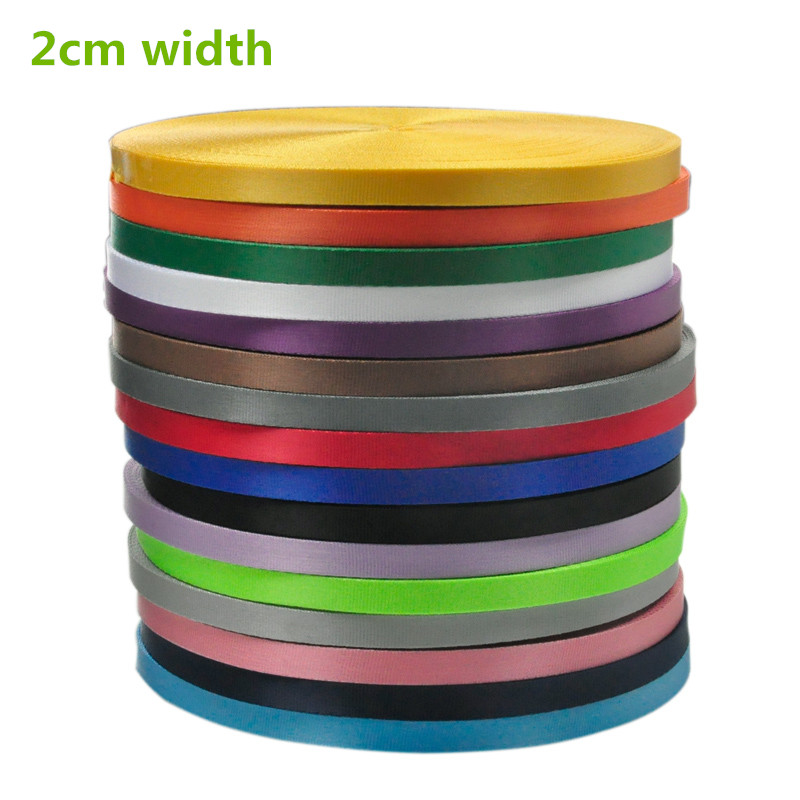 2cm wide 50 yards/roll pure color computer jacquard safety nylon webbing for gift box mobile belt
