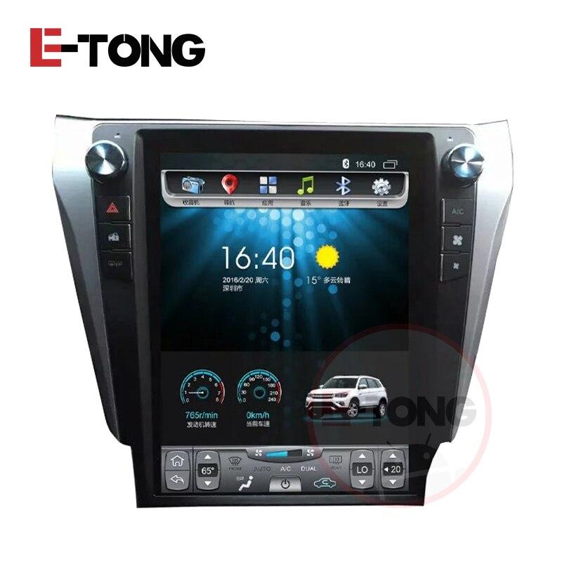 Vertical <font><b>Big</b></font> <font><b>Screen</b></font> Android 6.0 Car DVD Stereo GPS Navigation AutoRadio Player Tesla style for Toyota Camry 2012-2015 Camera DVR