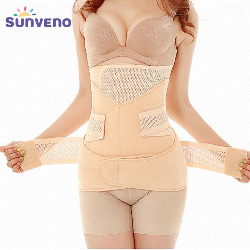 3in1 Bauch/Bauch/Becken Postpartale Gürtel Körper Erholung Shapewear Bauch Schlanke Taille Cincher Atmungs Taille Trainer Korsett