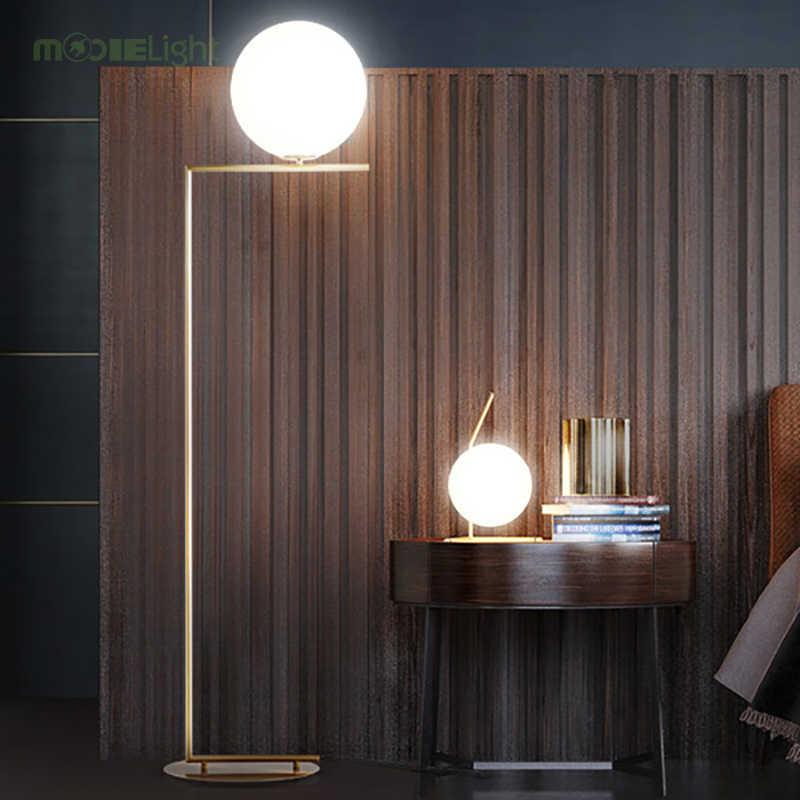 Современная светодиодная настольная лампа, настольная лампа, абажур, стеклянная настольная лампа шар, настольная лампа для спальни, гостиной, прикроватная лампа для пола, золотой дизайн