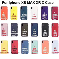 50Pcs/lot Original Silicone Case For Phone i5 SE 6 6s 7 8 plus iX XS XR XS MAX Phone Cover case with retail Packaging