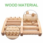 Wooden Dual Foot Massager Roller Pain Relief for Plantar Fasciitis Heal Spur Deep Tissue Acupressure Foot & Heel Massager
