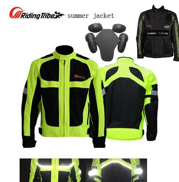 summer Moto Racing Lucifer reflective Yellow motorcycle jacket,fluorescein body armor riding clothing motorbike suits fashion neon green yellow fluorescein