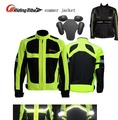 summer Moto Racing Lucifer reflective Yellow motorcycle jacket,fluorescein body armor riding clothing motorbike suits