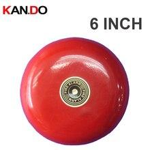 220v alta qualidade 70 120db sirene de som 220v alarme de incêndio alarme sirene alto falante 6 polegadas tamanho grande fogo sino