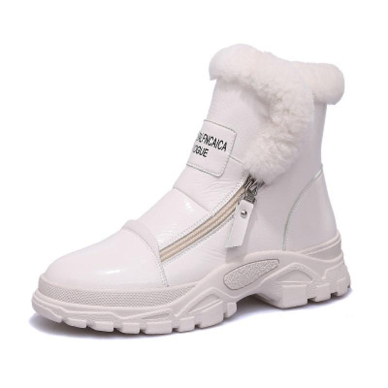 Pintura Cuero Algodón Más Terciopelo Zapatos Y Botas Engrosamiento 1 Otoño 2 Martin Diario De Nuevo Salvaje Las Invierno Mujeres Nieve xT7nOR70z