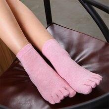 eb49d2881cbd (Ship from US) 1pair Summer Cotton Women Five Finger Socks Toe Socks  Nonslip Ankle Breathable Women Print Toe Five Finger Funny Sock #529