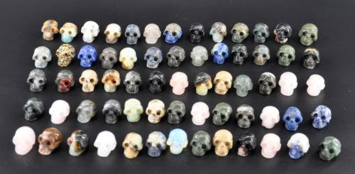 En gros 65 pcs 1.2 Sculpté différents couleur quartz Gemme crâne reiki