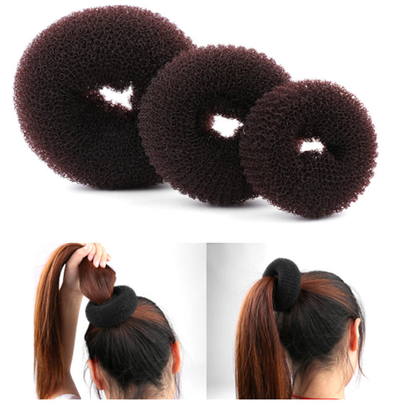 New Fashion Women Lady Magic Shaper Donut Hair Ring Bun Accessories Styling Tool S/M/L Easy Handle
