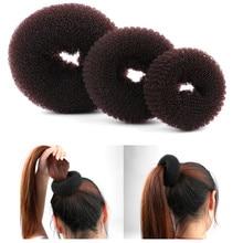 New Fashion Women Lady Magic Shaper Donut Hair Ring Bun Accessories Styling Tool S/M/L easy handle