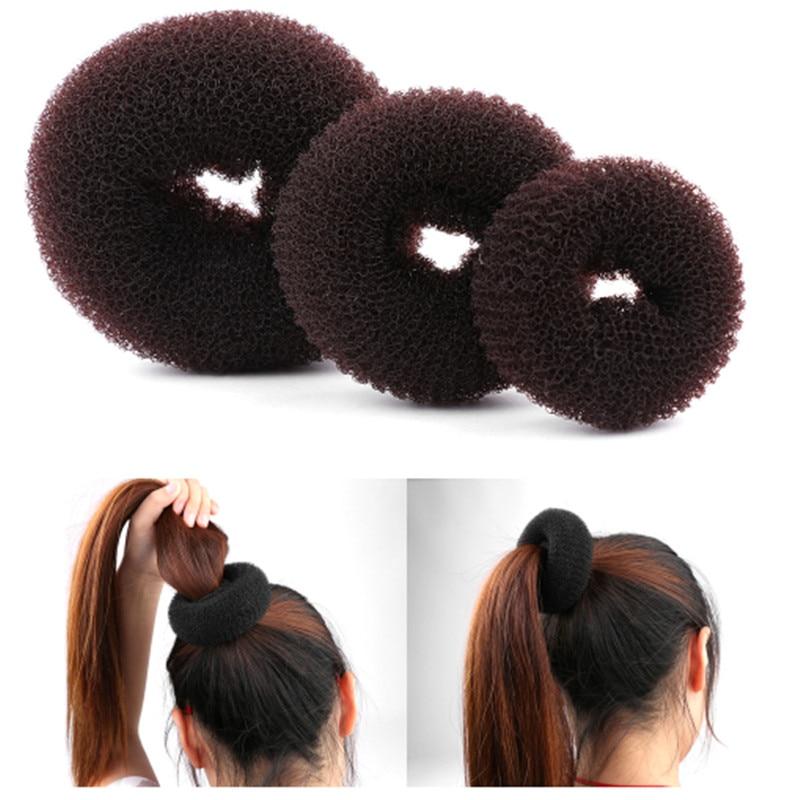 Hot Womens Fashion 2pcs Different Sizes Elegant Magic Buns Hair Accessories tgs