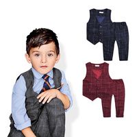2015 New Children S Leisure Clothing Sets Kids Baby Boy Suit Vest Gentleman Clothes For Weddings