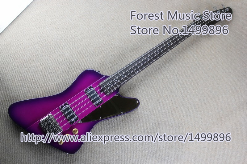 China 8 String Thund Bird Bass Guitar Chrome Hardware & Solid Guitar Body Free Shipping