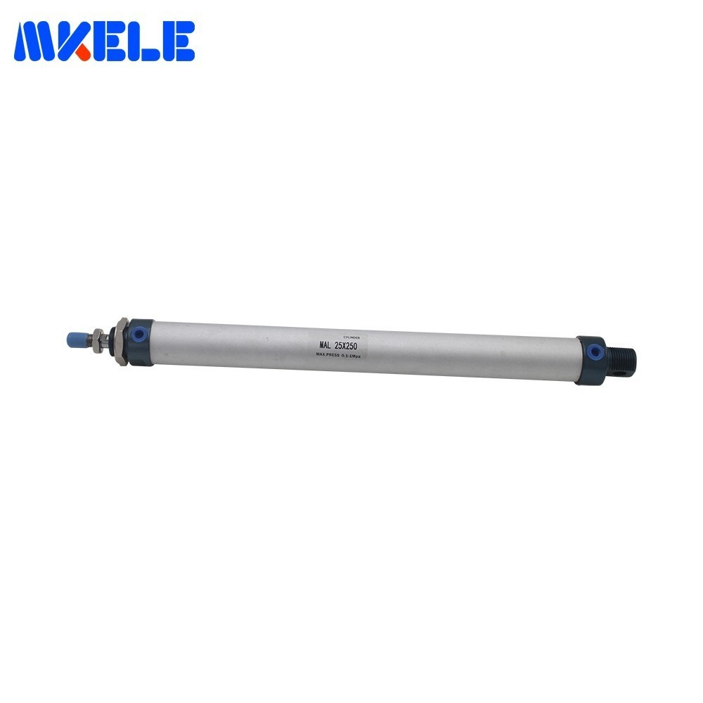 Discount Micro Pneumatic Cylinder Double Acting Cylinder 25mm Bore 250 Stroke Fishtailing Shape Cylinders MAL25-250-CA